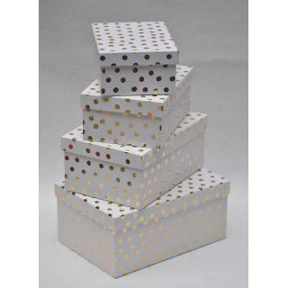 Geschenkkarton Weihnachten.4er Set Geschenkkarton Geschenkbox Weihnachten Weiss Gold 26 X 18 5 X 12 Cm